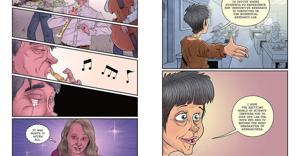 a graphic novel about epilepsy and multiple sclerosis funded by NEURINOX.